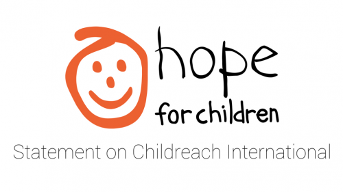 Hope for Children Statement on Childreach International
