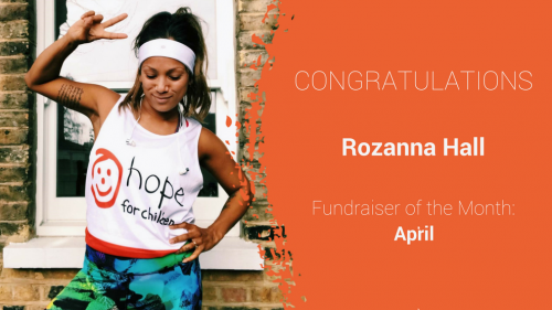 Rozanna Hall - Fundraiser of the Month